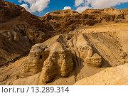 Купить «Qumran National Park archaelogical site where the Dead Sea Scrolls were accidentally discovered in 1947 by a goat herder, Israel», фото № 13289314, снято 28 января 2020 г. (c) age Fotostock / Фотобанк Лори