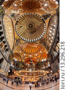 Купить «Hagia Sophia, Interior view, Istanbul, Turkey», фото № 13296218, снято 3 сентября 2019 г. (c) age Fotostock / Фотобанк Лори