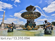 Купить «France, Europe, travel, Paris, City, Concorde, Square, Place de la Concorde, Fountain, Mars, Luxor, Obelisk, architecture, art, downtown, golden, tourism, water», фото № 13310094, снято 16 октября 2018 г. (c) age Fotostock / Фотобанк Лори