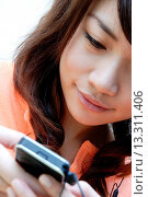 Купить «Teenage girl listening to music», фото № 13311406, снято 19 декабря 2007 г. (c) age Fotostock / Фотобанк Лори
