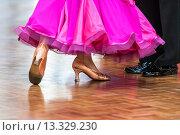 Купить «Couples at ballroom dancing at a dancing competition, Germany, Europe», фото № 13329230, снято 23 февраля 2019 г. (c) age Fotostock / Фотобанк Лори