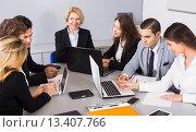 Купить «business team at meeting», фото № 13407766, снято 18 февраля 2019 г. (c) Яков Филимонов / Фотобанк Лори