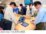 Купить «Apple Store in Ginza Street, Tokyo», фото № 13470458, снято 18 февраля 2019 г. (c) age Fotostock / Фотобанк Лори