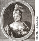 Marianne Duclos de Chateauneuf, 1664 - 1747  French comedienne  From Les Heures Libres published 1908. Редакционное фото, фотограф Classic Vision / age Fotostock / Фотобанк Лори