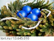 Новогодние шары. Стоковое фото, фотограф Елена Поминова / Фотобанк Лори