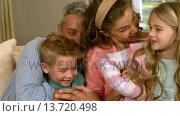 Купить «Happy family playing together», видеоролик № 13720498, снято 22 июля 2019 г. (c) Wavebreak Media / Фотобанк Лори