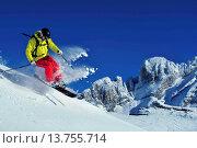 Купить «skiing in the Alps, France, Savoie, Courchevel», фото № 13755714, снято 11 декабря 2018 г. (c) age Fotostock / Фотобанк Лори