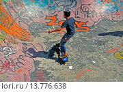 Купить «12 years old boy with waveboard on a skateboard track, Belgium, Bruessel», фото № 13776638, снято 14 декабря 2018 г. (c) age Fotostock / Фотобанк Лори