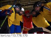 Купить «teen girls ice hockey sport players», фото № 13778170, снято 21 марта 2019 г. (c) PantherMedia / Фотобанк Лори