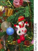 Новогодняя елка с игрушками. Стоковое фото, фотограф Павел Бурочкин / Фотобанк Лори