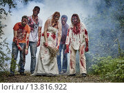 Zombie Gruppe. Стоковое фото, фотограф Michael Röder / PantherMedia / Фотобанк Лори