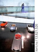 Купить «Germany, Munich, historical museum of the BMW car factory at the company headquarters », фото № 13821526, снято 19 августа 2018 г. (c) age Fotostock / Фотобанк Лори