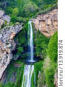 Купить «Spain, Catalunya, Barcelona province, San Miquel del Fai Mnastery waterfall.», фото № 13919874, снято 24 августа 2019 г. (c) age Fotostock / Фотобанк Лори