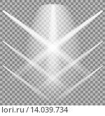 Лучи прожекторов на клетчатом фоне. Стоковая иллюстрация, иллюстратор Valerii Stoika / Фотобанк Лори