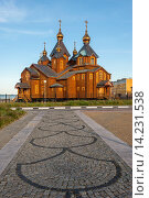 Купить «Orthodox Cathedral of the Holy Trinity, Siberian city Anadyr, Chukotka Province, Russian Far East.», фото № 14231538, снято 24 января 2018 г. (c) age Fotostock / Фотобанк Лори