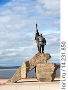 Купить «Russia , Chukotka autonomous district , Anadyr , headtown of the district , Bronze statue , eriged to celebrate the first revolutionnary who came in the Chukotka area.», фото № 14231850, снято 14 декабря 2017 г. (c) age Fotostock / Фотобанк Лори