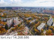 Город Видное с высоты (2014 год). Стоковое фото, фотограф Данила Михин / Фотобанк Лори