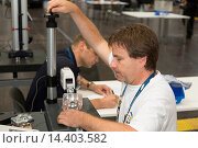 Купить «Worldskills 2013 paricipant at work», фото № 14403582, снято 22 августа 2019 г. (c) age Fotostock / Фотобанк Лори