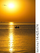 Золотой закат. Стоковое фото, фотограф Александр Ручко / Фотобанк Лори