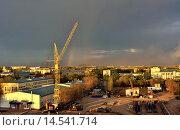 Город после грозы. Павлодар, Казахстан. Стоковое фото, фотограф Рута Применко / Фотобанк Лори