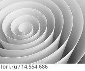 Белая 3D спиральная лента, закрученная в спираль. Стоковая иллюстрация, иллюстратор EugeneSergeev / Фотобанк Лори