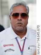 Купить «Formula 1 World Championship in Monza on Sunday, 09.09.2012 at Autodromo di Monza in Italy / Vijay Mallya.», фото № 14645670, снято 11 сентября 2012 г. (c) age Fotostock / Фотобанк Лори