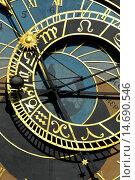 Купить «Prague, city center, city hall, famous clock tower, Czech Republic, Prague», фото № 14690546, снято 19 сентября 2004 г. (c) age Fotostock / Фотобанк Лори