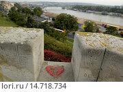 Купить «Beograd, park Kalemegdan, river Save, Serbia-Montenegro, Belgrade», фото № 14718734, снято 21 сентября 2004 г. (c) age Fotostock / Фотобанк Лори
