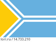 Купить «Флаг Республики Тува», иллюстрация № 14733210 (c) Владимир Макеев / Фотобанк Лори