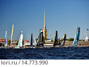 Extreme Sailing Series in St. Petersburg, Russia, фото № 14773990, снято 22 августа 2015 г. (c) Stockphoto / Фотобанк Лори