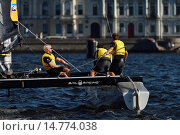 Extreme Sailing Series in St. Petersburg, Russia, фото № 14774038, снято 22 августа 2015 г. (c) Stockphoto / Фотобанк Лори