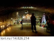 Купить «CRYPT OF CHURCH IN SAINTES MARIES DE LA MER IN PROVENCE - FRANCE», фото № 14826214, снято 28 ноября 2004 г. (c) age Fotostock / Фотобанк Лори