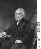 Купить «Henry Wadsworth Longfellow, 1807 - 1882, an American poet,.», фото № 14836658, снято 7 августа 2020 г. (c) age Fotostock / Фотобанк Лори