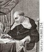 Купить «Bartolomé de Las Casas , 1484 to 1566. Spanish Dominican Friar, historian, theologian, Bishop of chiapas, Mexico, philisopher, jurist and defensor of the...», фото № 14860214, снято 27 марта 2019 г. (c) age Fotostock / Фотобанк Лори