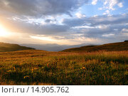 Рассвет на Лаго-Наки. Стоковое фото, фотограф Евгения Празднова / Фотобанк Лори