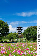 Купить «Bitchu Kokubu Temple, Soja, Okayama, Japan», фото № 14907178, снято 26 марта 2019 г. (c) age Fotostock / Фотобанк Лори