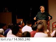 Купить «Bill Gates Speaking to Children at SAM», фото № 14960246, снято 11 июня 2005 г. (c) age Fotostock / Фотобанк Лори