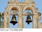 Europe, Greece, Greek, Crete, Mediterranean, island, Argiroupoli, bell tower, bells. Стоковое фото, фотограф Heeb Christian / age Fotostock / Фотобанк Лори
