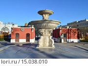 Купить «Фонтан в саду Эрмитаж в Москве», эксклюзивное фото № 15038010, снято 6 ноября 2015 г. (c) lana1501 / Фотобанк Лори