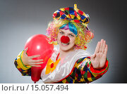 Купить «Funny clown in comical concept», фото № 15057494, снято 1 июля 2015 г. (c) Elnur / Фотобанк Лори