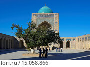 Asia, Uzbekistan, Central Asia, silk road, outside, day, building, construction, architecture, Kalon mosque, Kalan mosque, mosque, Islam, Islamic, religion... Стоковое фото, фотограф Kreder Katja / age Fotostock / Фотобанк Лори