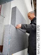 Купить «to face a facade with heat insulation», фото № 15077070, снято 7 июня 2020 г. (c) age Fotostock / Фотобанк Лори
