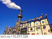 Купить «garbage incineration plant Spittelau created by Hundertwasser, only for editorial use, Austria, Vienna», фото № 15077326, снято 12 октября 2018 г. (c) age Fotostock / Фотобанк Лори