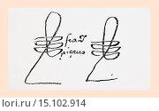 Купить «Signature of Francisco Pizarro González, c. 1471/ 1476 - 1541. Spanish conquistador, conqueror of the Incan Empire. Governor of New Castile, Peru. From...», фото № 15102914, снято 18 октября 2019 г. (c) age Fotostock / Фотобанк Лори