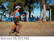 Купить «Running on the beach in Saint Leu. Saint-Leu is a municipality in the French overseas department of Reunion. It is located on the west side of the island...», фото № 15161162, снято 19 апреля 2013 г. (c) age Fotostock / Фотобанк Лори