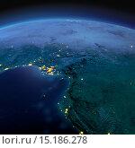 Купить «Страны Гвинейского залива в лунную ночь», иллюстрация № 15186278 (c) Антон Балаж / Фотобанк Лори