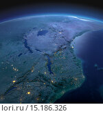 Купить «Восточная Африка. Мозамбик, Танзания, Кения в лунную ночь», иллюстрация № 15186326 (c) Антон Балаж / Фотобанк Лори
