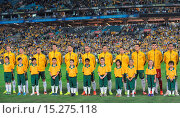 Купить «Australia's final game in Australia before the World Cup finals ended in a 1-1 draw against a depleted South African side. Featuring: Australian national...», фото № 15275118, снято 26 мая 2014 г. (c) age Fotostock / Фотобанк Лори
