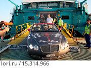 Купить «Gumball 3000 on the ferry from Spain to Ibiza Featuring: Xzibit Where: Ibiza, Spain When: 11 Jun 2014 Credit: Owen Beiny/WENN.com», фото № 15314966, снято 11 июня 2014 г. (c) age Fotostock / Фотобанк Лори