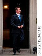 Купить «British Prime Minister David Cameron welcomes Herman Van Rompuy, President of the European Council, at 10 Downing Street. Featuring: David Cameron Where...», фото № 15347110, снято 23 июня 2014 г. (c) age Fotostock / Фотобанк Лори